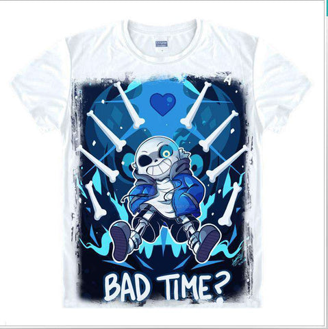 Bad Time? Letter Printed T-Shirt Short Sleeve Men