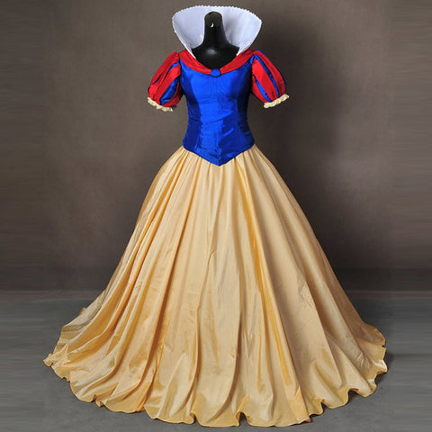 Snow White Halloween Queen Costume Party Blue Gold
