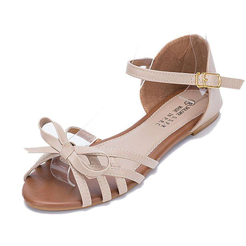 Causal Shoes Summer Flat Metal Plus Size Women Flat Sandals