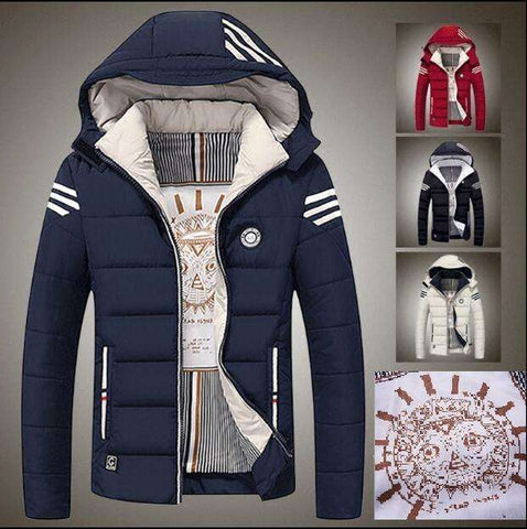 Men casual Outerwear warm cotton down coat