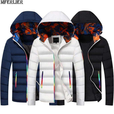 Men Camouflage Thick Warm Outwear Windproof Jackets