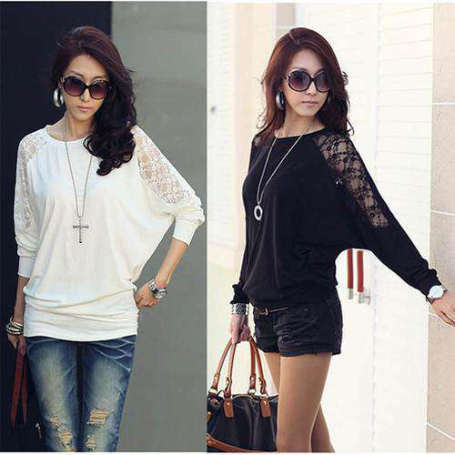 Women Ladies Loose  Long Sleeve Casual Top