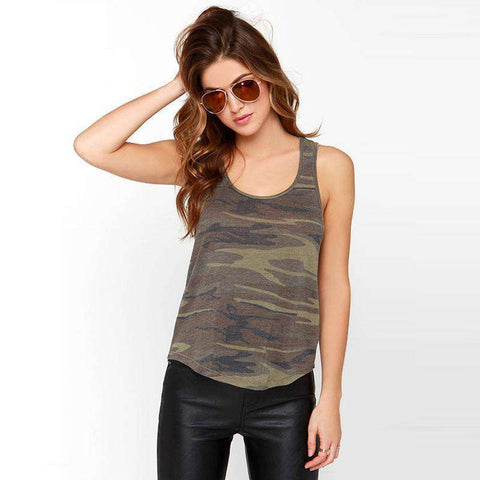 Casual Tank Top Women Vest Sleeveless Tops