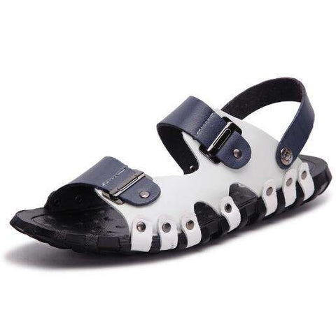 Genuine Leather Men Handmade Breathable Beach Sandals