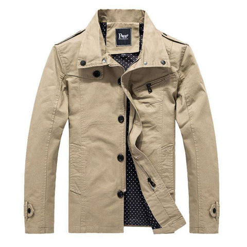 100% Pure Cotton Thin Casual Men's Jacket