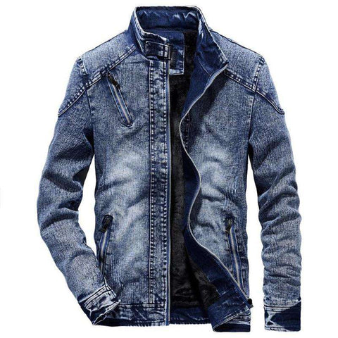 Casual Fit Denim Jacket Men