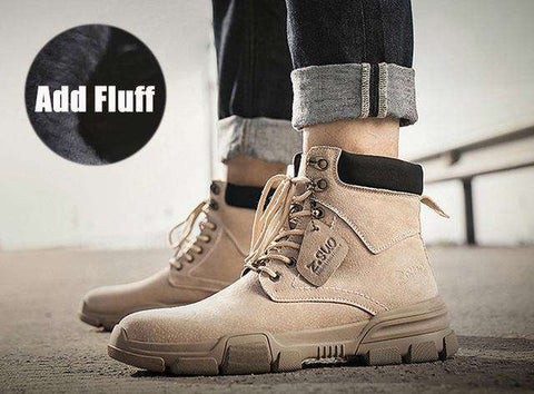 Men Suede Leather Casual Outdoor Winter Boots