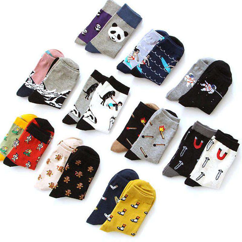 Socks Creative Panda Match Snow Men