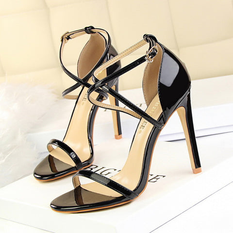 Women Patent Leather Women Gold Heels