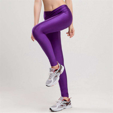 High Waist Knitted Ankle Length Solid Leggings