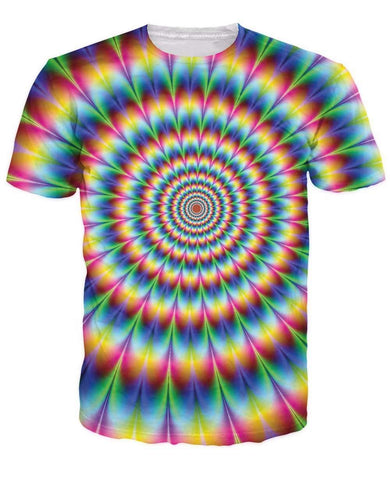 Men tees Into the Rainbow T-Shirt 3d