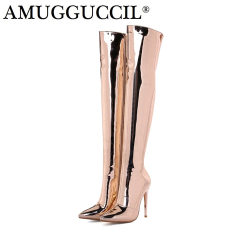 Women High Heel Sexy Over The Knee Thigh High Boots