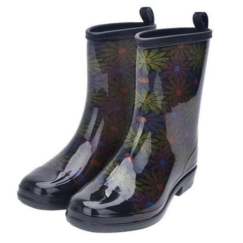 Women Fashion Waterproof Rubber Rainboot