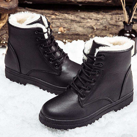 women winter classic style ankle shoes