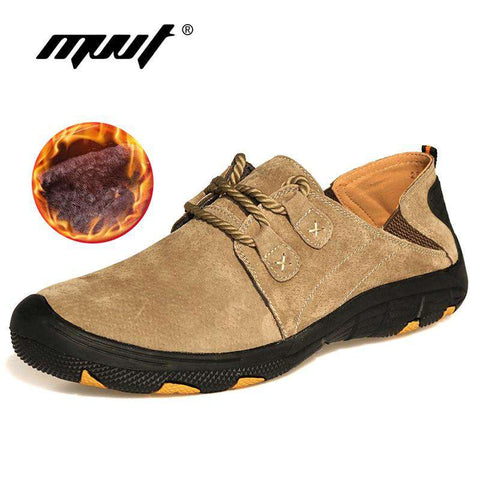 Men Comfort Suede Genuine Leather Casual Outdoor Shoes