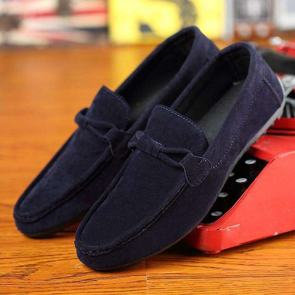 Mens Casual Leather Slip-on Loafers