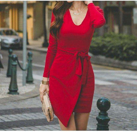 Vintage Maxi Women Bandage Long Party  Bodycon Red Dress