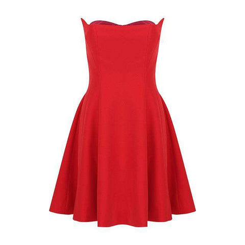 Elegant Sexy Red Sleeveless Celebrity Party Dress Women