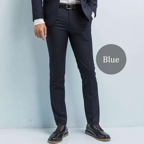Men's Slim Fit Wrinkle-Resistant Dress Pants Black