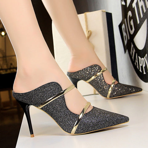 Women Sexy Gold Fashion High Heel Pumps
