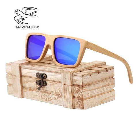 Bamboo Polarized Wooden Sunglasses Handmade Unisex