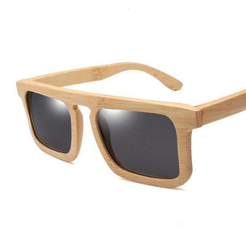 Bamboo Rivets Sunglasses Square Frame UV 400 For Women