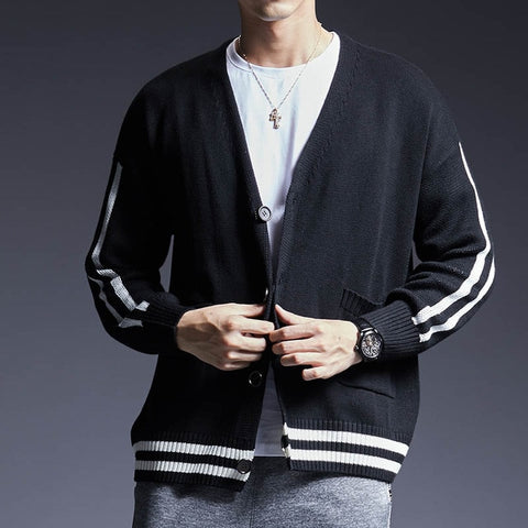 Men Slim Fit Knitwear Sweater Cardigan Sweater