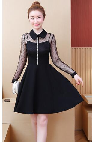Women Fashion Long Sleeve Strapless A Line Party Dress