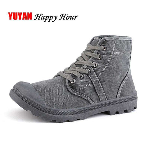 Men Canvas High top Casual Fashion Ankle Boots