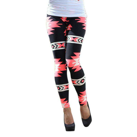 Hot Women Tribal Aztec Printed Leggings