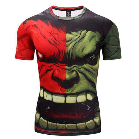 3D Hulk Body Print T shirt Men