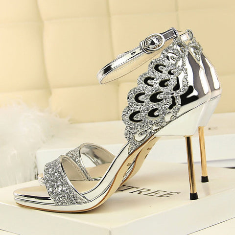 Women Luxury Stiletto Glitter High Heels