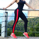 Lady Leggings Elastic Workout Fitness Bodybuilding Stripe Pants S M L XL