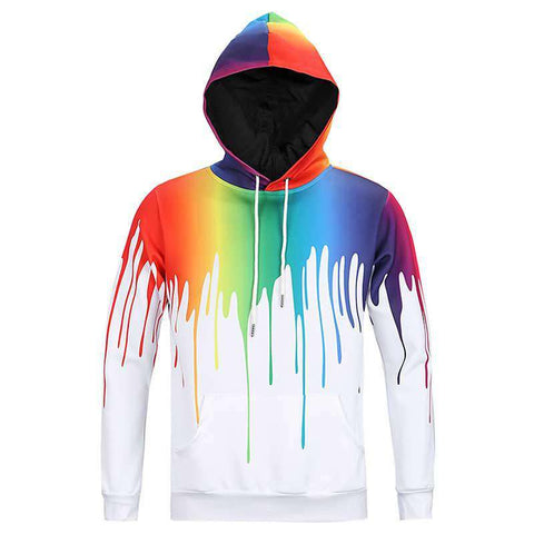 3D Graffiti printed hooded sweatshirt for Men