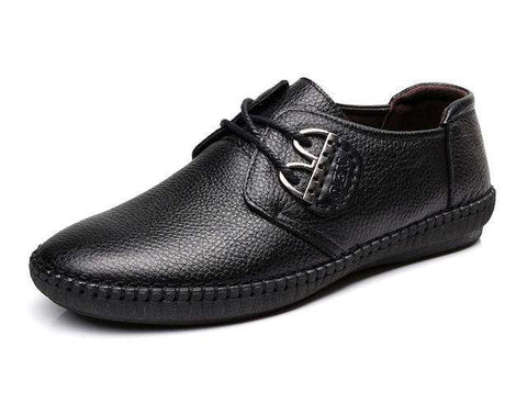 Cow Leather Lace Up Business Casual Shoes