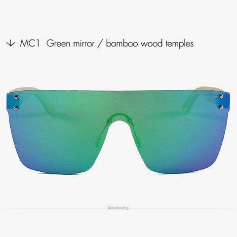 Bamboo Square Sunglasses For Men