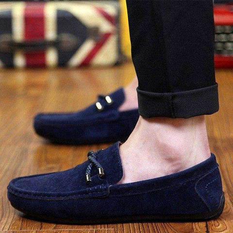 Men Shallow Bow tie Moccasin Loafers