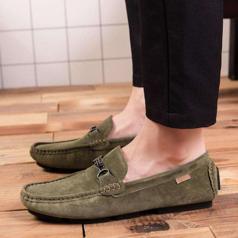 Men Casual Korean Leather Shoes Loafers