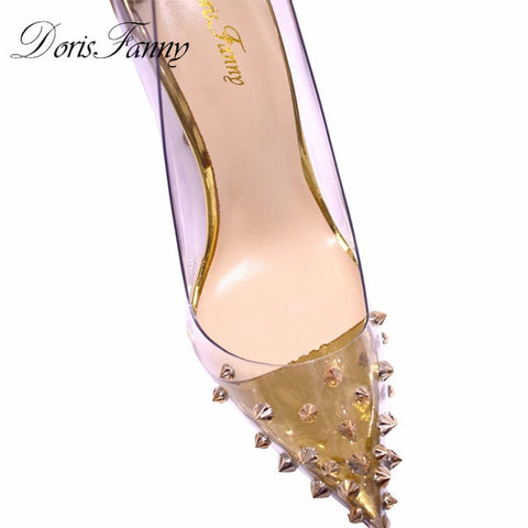 women's Gold wedding stiletto high heels Pumps