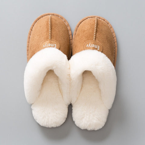 Plush Winter Comfort Coral Foam Fleece House Slippers