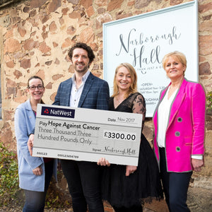 Spreading the Christmas Cheer with a donation of over £3300 to Hope Against Cancer!