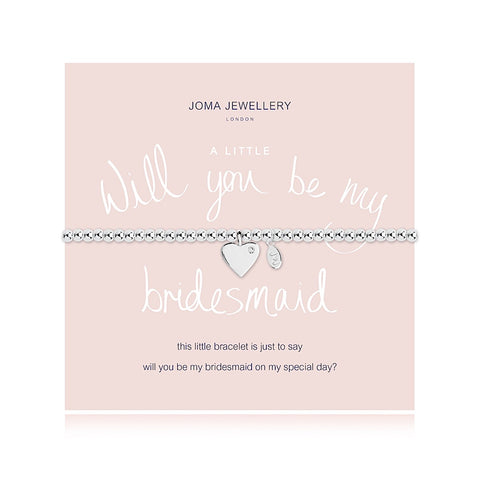 Joma Jewellery Will You Be My Bridesmaid Bracelet