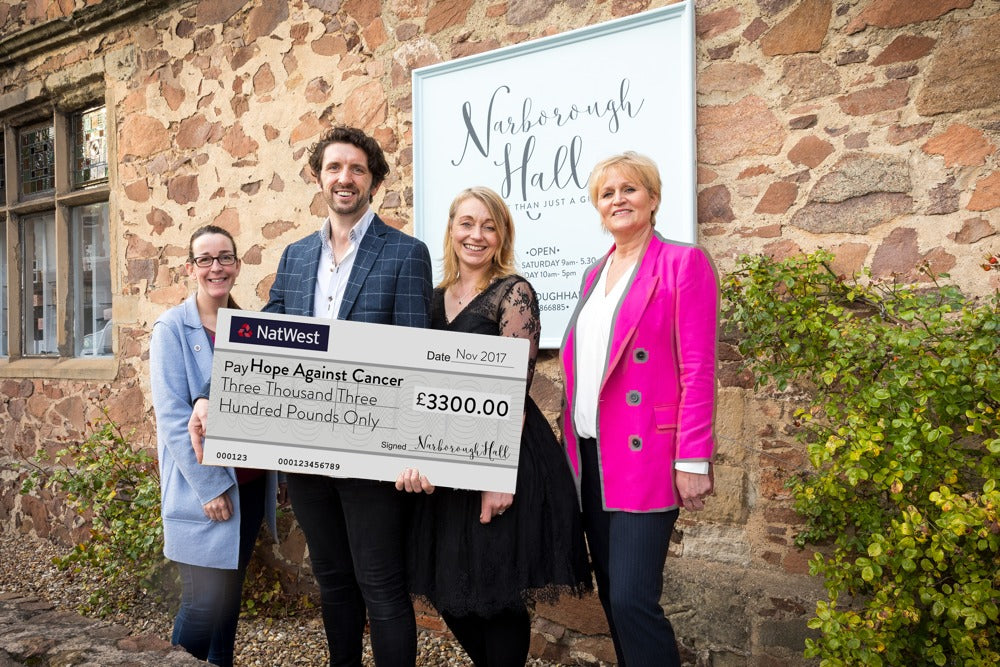 Narborough Hall Charitable Donation To Hope Against Cancer