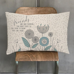 East of India Long cushion- Friends are flowers