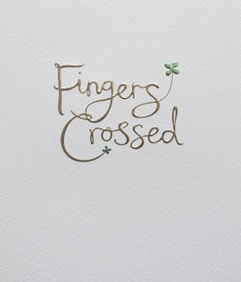 Mimosa Fingers Crossed Card