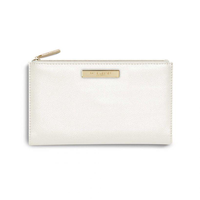 Katie Loxton Metallic Ivory Alise Fold Out Purse