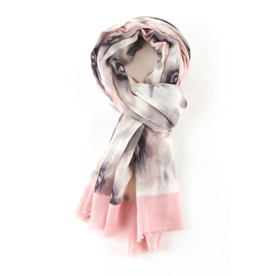 Pink Bloom Print Scarf