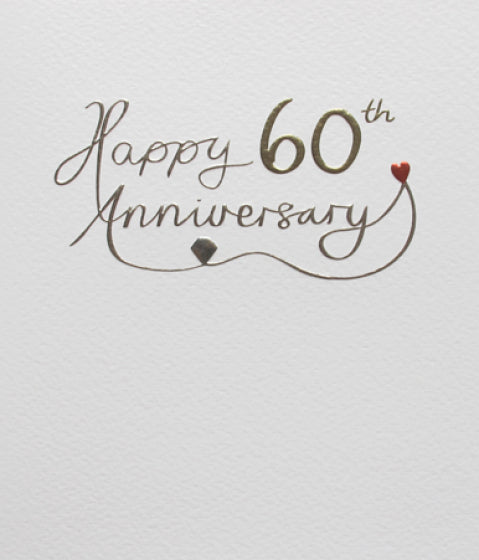 Mimosa 60th Anniversary Card