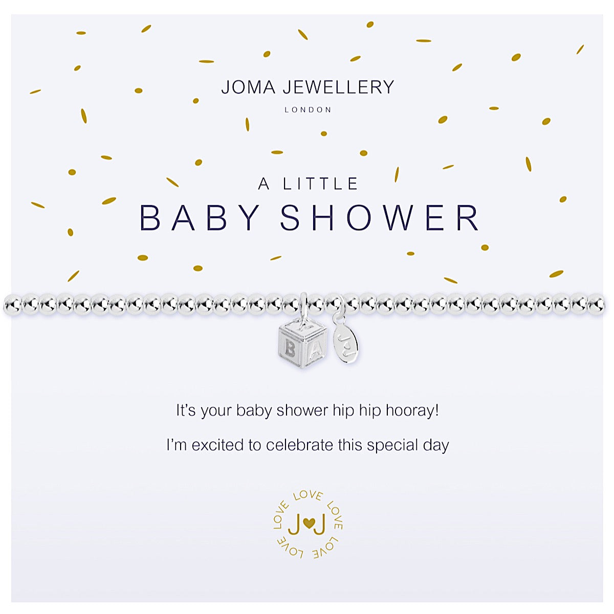 Joma a little Baby Shower Bracelet - cube
