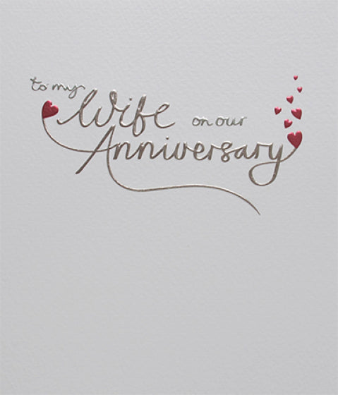 Mimosa Wife Anniversary Card